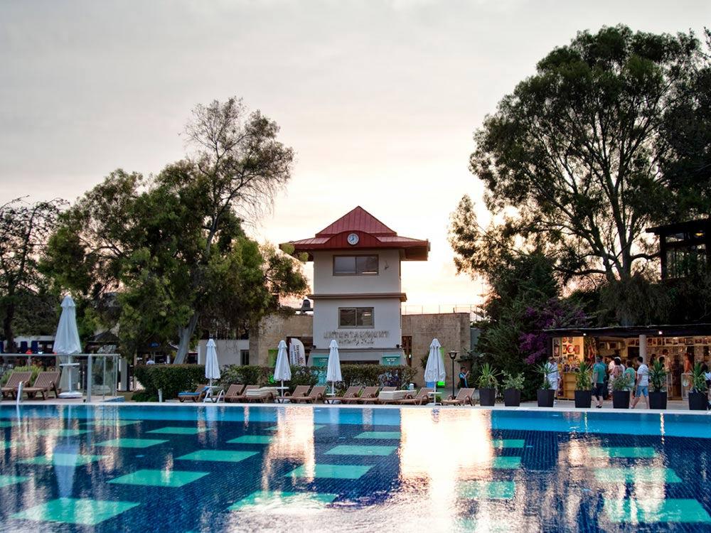 sueno hotels beach side pools evening